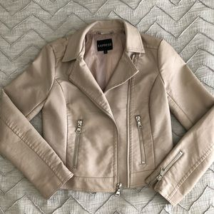 Tan (faux) leather jacket